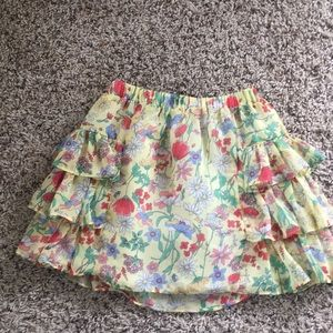 Ruffle flower skirt